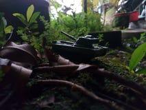 Miniaturas do tanque da guerra imagens de stock