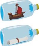 Miniaturas em um frasco ilustração stock