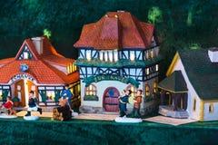 Miniature à colombage de maison de symbole de Nuremberg Images libres de droits