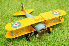 miniature airplane close up Stock Photography