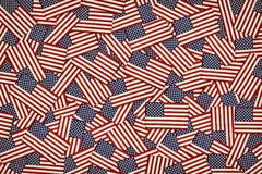 Miniature American flags background Stock Images