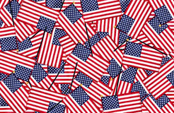 Miniature American flags background Stock Photos