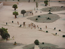 Miniature of ancient Indigenous town in Lima, Peru. Stock Photo