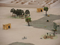 Miniature of ancient Indigenous town in Lima, Peru. Royalty Free Stock Photography