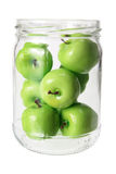 Miniature Apples in  Glass Jar Royalty Free Stock Photography