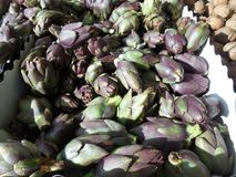 Miniature Artichokes For Sale stock photo
