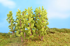 Miniature artificial trees Stock Image