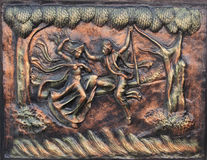 Miniature artwork, Indian handicrafts fair Royalty Free Stock Photography