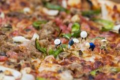 Free Miniature Asian Peasants On Pizza Field Stock Photos - 34616733
