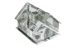 Miniature Banknote House Stock Photography