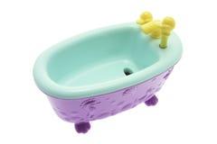 Miniature Bath Tub. On White Background Stock Image