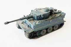 Military miniature battle tank models. Weapons ever used in battle during world war II royalty free stock photo