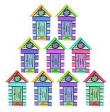 Miniature Beach Houses Stock Photos