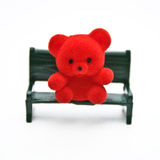 Miniature Bear on Bench Royalty Free Stock Photography