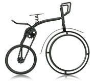 Miniature of a bike isolated on the white background Stock Photos