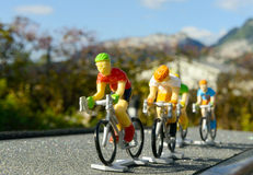 Miniature bike race royalty free stock images