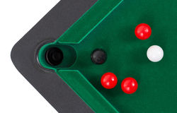 Miniature billiard table Stock Image