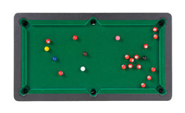 Miniature billiard table Stock Images