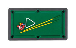 Miniature billiard table Royalty Free Stock Images