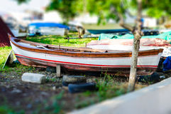 Miniature Boat Stock Image