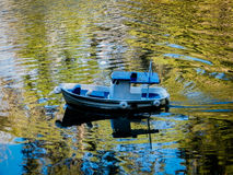 Miniature of a boat in a lake Stock Images