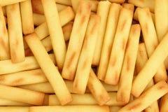 Miniature Bread Sticks Close View Stock Photo