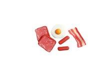 Miniature breakfast model from japanese clay Royalty Free Stock Photos