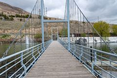 Footpath Bridge royalty free stock images