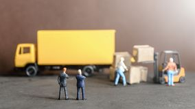 Logistics warehouse freight transportation concept Royalty Free Stock Photo