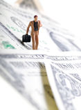 Miniature businessman Stock Photos
