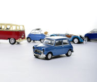 Miniature car against other cars Stock Photography