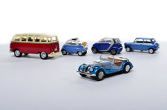Miniature car against other cars Stock Photo