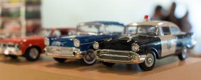 Miniature car models. Miniature car models in the shop stock photos