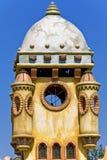 Miniature castle in Greece. Fantastic miniature castle in an amusement park at Greece Royalty Free Stock Photo