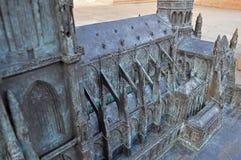 Miniature Cathédrale Notre-Dame de Strasbourg. The scenery of Strasbourg in France stock image