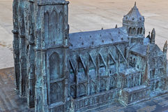 Miniature Cathédrale Notre-Dame de Strasbourg. The scenery of Strasbourg in France royalty free stock photos