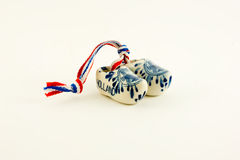 Miniature ceramic Dutch clogs Royalty Free Stock Photos