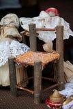 Miniature chair handmade Stock Images