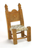 Miniature chair isolated Royalty Free Stock Photo