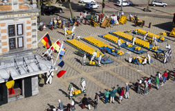 Miniature cheese market in Madurodam stock photography