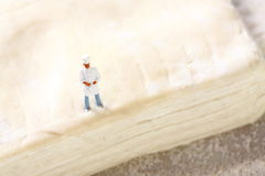 Miniature chef pastry D Royalty Free Stock Photo