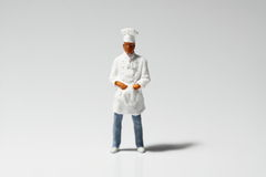 Miniature chef A Stock Photos