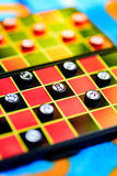 Miniature chess board Royalty Free Stock Photos