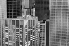 Miniature Chicago Downtown buildings and skyscrapers installatio. N Royalty Free Stock Images
