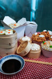 Miniature Chinese food Royalty Free Stock Images