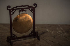 Miniature of Chinese Gong in. Photo of miniature of chinese gong under the light of sun Stock Photos