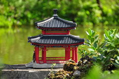 Miniature Chinese Pagoda Stock Photo