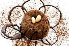 Miniature Chocolate cake stock images