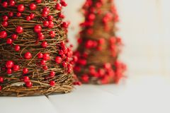 Miniature Christmas decorations stock photos