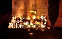 Miniature Christmas scene royalty free stock photo